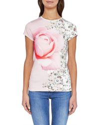 Ted Baker - Guulie Floral Print Tee - Lyst
