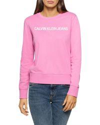 Calvin Klein - Logo Cotton Jersey Jumper - Lyst