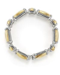 David Yurman | Chatelaine Linear Bracelet With Diamonds And 18k Gold | Lyst