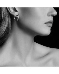 David Yurman Continuance Hoop Earrings In 18k White Gold Lyst