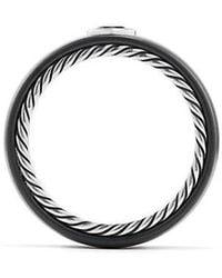 David Yurman - Streamline Band Ring With Black Diamond, 8mm - Lyst