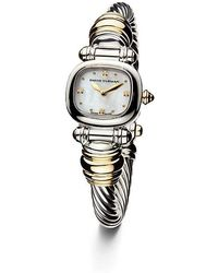 david yurman cable 21mm sterling silver quartz watch with 18k gold lyst