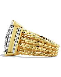 David Yurman - Wheaton Ring With Diamonds In 18k Gold - Lyst