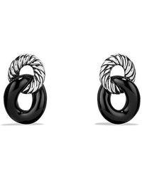 David Yurman - Belmont Curb Link Drop Earrings With Black Onyx - Lyst