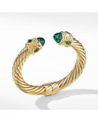 David Yurman - Renaissance Bracelet With Lapis Lazuli And Hampton Blue Topaz In 18k Gold - Lyst