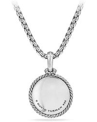 David Yurman - Cable Collectibles St. Christopher Amulet With Diamonds - Lyst