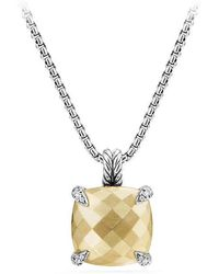 David Yurman - Chatelaine® Pendant Necklace With 18k Gold And Diamonds, 14mm - Lyst