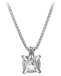 David Yurman | Chatelaine® Pendant Necklace With Blue Topaz And Diamonds, 11mm | Lyst