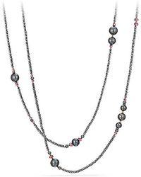 David Yurman - Oceanica Tweejoux Necklace With Pearls, Hematine And Rhodolite Garnet - Lyst