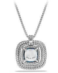 David Yurman - Châtelaine Pave Bezel Necklace With Hampton Blue Topaz And Diamonds, 24mm - Lyst