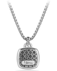 David Yurman - Albion® Pendant With Diamonds And 18k Gold Dome, 17mm - Lyst