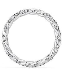 David Yurman | Paveflex Ring With Diamonds In 18k White Gold, 2.7mm | Lyst