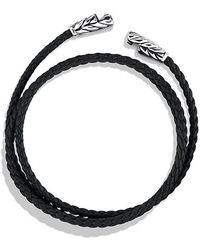 David Yurman - Chevron Triple-wrap Bracelet In Black - Lyst