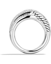 David Yurman - Labyrinth® Double-loop Ring With Diamonds - Lyst