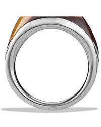 David Yurman | Chevron Signet Ring With Tiger's Eye | Lyst