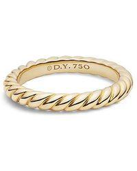 David Yurman - Dy Unity Cable Wedding Band In 18k Gold, 3mm - Lyst