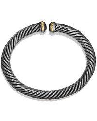 David Yurman - Cable Spira Bracelet With 18k Gold, 7mm - Lyst
