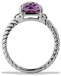 David Yurman - Petite Wheaton® Ring With Amethyst And Diamonds - Lyst