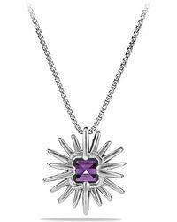 David Yurman - Starburst Pendant Necklace With Amethyst And Diamonds, 23mm - Lyst