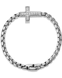 David Yurman - Pavé Cross Bracelet With Diamonds - Lyst