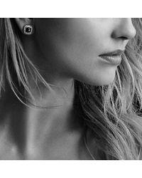 David Yurman - Albion® Earrings With Hematine And Diamonds, 7mm - Lyst