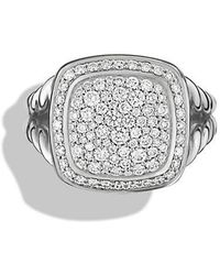 David Yurman - Albion® Ring With Diamonds, 11mm - Lyst