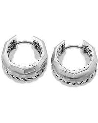 David Yurman - Stax Huggie Hoop Earrings With Diamonds - Lyst