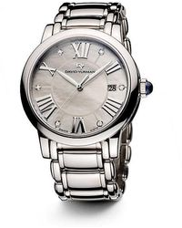 david yurman classic 38mm stainless steel quartz watch with diamond markers lyst
