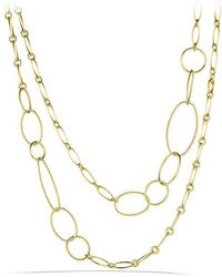 David Yurman | Mobile Link Necklace In 18k Gold | Lyst