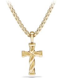 David Yurman - Cable Classics Cross Pendant In 18k Gold - Lyst