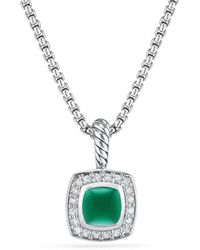 David Yurman - Petite Albion® Pendant Necklace With Green Onyx And Diamonds - Lyst