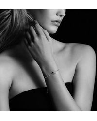 David Yurman - Petite Pave Bracelet With Blue Sapphire - Lyst