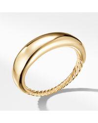 David Yurman - Pure Form Smooth Bracelet In 18k Gold, 17mm - Lyst