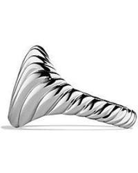 David Yurman - Sculp Tedcable Pinky Ring In 18k White Gold - Lyst