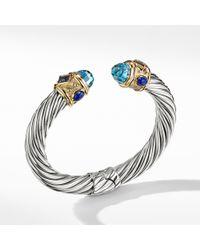 David Yurman - Renaissance Bracelet With Blue Topaz, Iolite, And 14k Gold, 10mm - Lyst