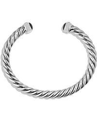 David Yurman - Cable Classic Cuff Bracelet With Black Onyx, 6mm - Lyst
