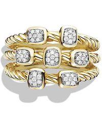 David Yurman - Confetti Ring With Diamonds In 18k Gold - Lyst