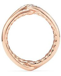 David Yurman - Continuance® Band Ring With Diamonds In 18k Rose Gold, 6.5mm - Lyst