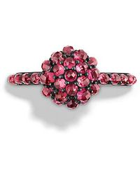 David Yurman - Osetra Ring With Rhodalite Garnet, 10mm - Lyst