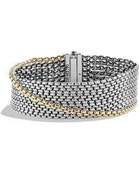 David Yurman - Chain Eight-row Bracelet With 18k Gold - Lyst