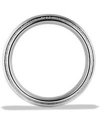 David Yurman - Knife Edge Band Ring In Platinum, 10mm - Lyst