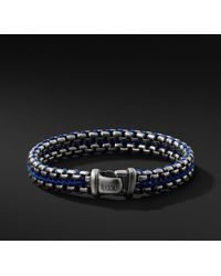 David Yurman - Woven Box Chain Bracelet In Blue - Lyst