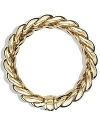 David Yurman - Hampton Cable Bracelet In 18k Gold, 19mm - Lyst