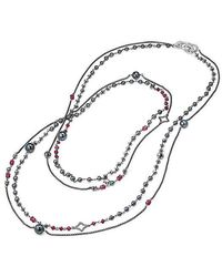 David Yurman - Oceanica Two-row Chain Necklace With Grey Pearls And Hematine - Lyst