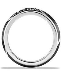 David Yurman - Forged Carbon Band Ring With Black Diamonds - Lyst