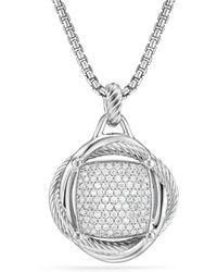 David Yurman - Infinity Large Pendant With Diamonds - Lyst