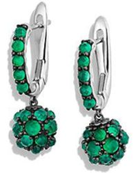 David Yurman - Osetra Short Drop Earrings With Green Onyx - Lyst