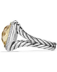 David Yurman - Albion® Ring With Champagne Citrine And Diamonds With 18k Gold - Lyst