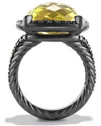 David Yurman | Châtelaine® Ring With Lemon Citrine And Black Diamonds | Lyst