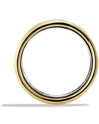 David Yurman   Cable Band Ring With 14k Gold   Lyst